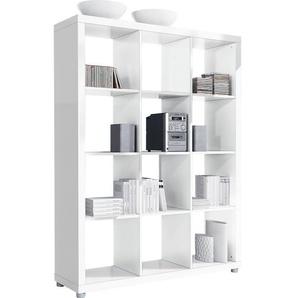 Raumteiler KASSANDRA Waben- und Spanplatten Weiß ca. 117 x 157 x 35 cm
