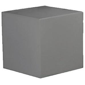 Ronnieart Sitzhocker/Fußstütze in Würfelform, Kunststoff, grau, 40x40x40cm
