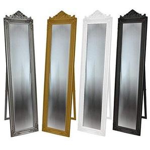 DRULINE Standspiegel Crown Barock 45 x 170 x 3 cm Gold mit Krone