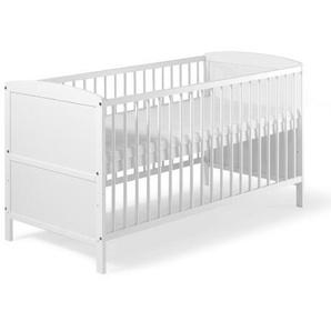Schardt 040761902 Kombi-Kinderbett Conny 70 x 140 cm, weiß lackiert