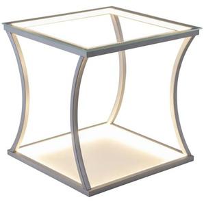 LED-Tisch Mesa in silberfarbig/eckig
