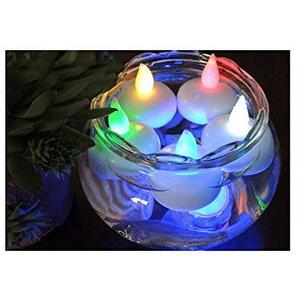 LED-Kerzen Teelichter, flackernd, flammenlos, wasserfest, realistische batteriebetriebene Fake Kerze mit warmweißem Leuchtmittel bunt