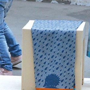 David Fussenegger IDA leicht Baumwolldecke Igel blau 70/90