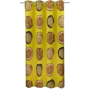Vhg Vorhang »Holzscheibe Natur«, H/B 285/145 cm, gelb