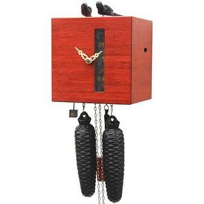 Rombach & Haas Moderne Kuckucksuhr Vogelfrei mit vertikalem Fenster rot 8-Tagewerk 19 cm