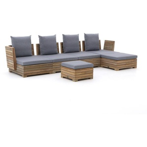 ROUGH-B Chaiselongue Lounge-Set 6-teilig