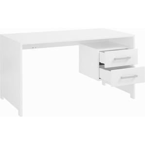 INOSIGN Schreibtisch aus schönem weiß/lackiertem Holz, weiß, FSC-Zertifikat, »Style«, , , mit Schubkästen, FSC®-zertifiziert