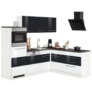 Winkelküche »Trient«, mit E-Geräten, Stellbreite 230 x 190 cm, weiß