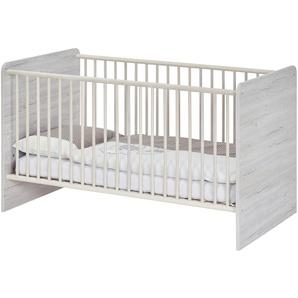 Kinderbett 70x140 grau Nick ¦ holzfarben ¦ Maße (cm): B: 74 H: 77 T: 150 Baby  Babymöbel  Babybetten » Höffner