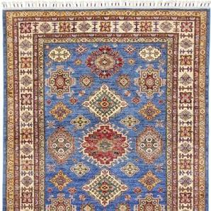 Orientteppich Super Kazak 202x146 Handgeknüpfter Teppich