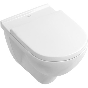 Villeroy & Boch Wand-WC-Set O.Novo spülrandlos Weiß inkl. WC-Sitz