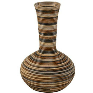 korb.outlet Vase aus Rattan/Bodenvase Rund (4)