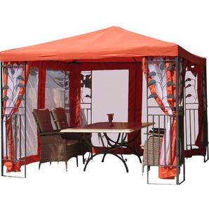 4-tlg. Seitenwand-Set für Pavillon Blätter