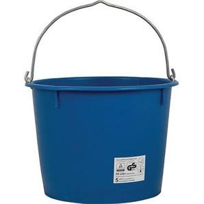 Baueimer Inhalt 20l schwere Ausführung mit Metallösen und 7 mm Bügel blau