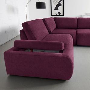 Inosign Ecksofa, lila, B/H/T: 230x43x68cm, hoher Sitzkomfort, FSC®-zertifiziert