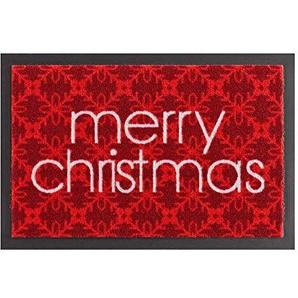 HANSE Home Schmutzfangmatte Merry Christmas Rot 40x60 cm Fußmatte, Polyamid, 40 x 60 x 0,7 cm