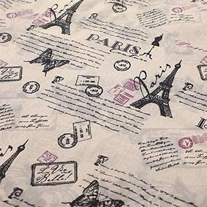 Souarts Stoffe Basteln Patchwork Baumwoll und Leinenstoff Stoffpakete DIY 150x100cm (1)