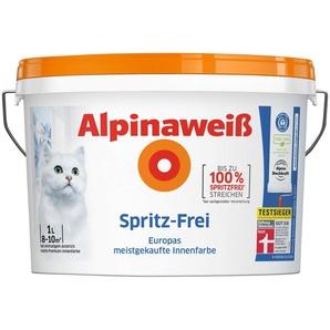 ALPINA Wand- und Deckenfarbe »Alpinaweiß - Spritz-Frei«, 1 l
