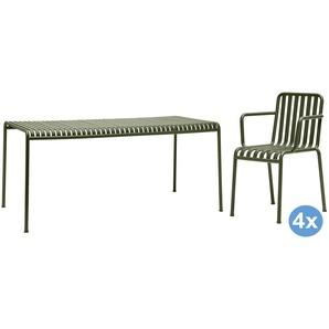 Hay Palissade Gartenset 160x80 Tisch + 4 Stühle (Armchair)
