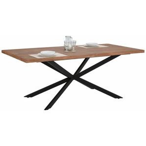 Home affaire Esstisch »Austin«, mit einem außergewöhnlichen Beinunterstell aus Metall, Breite 200 cm