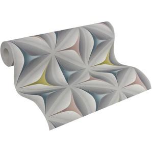 Vliestapete »Scandinavian geometrisch grafisch«, 3D-Optik, grafisch, Retro, gemustert, strukturiert
