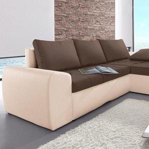 Sit&more Eckcouch, braun, hoher Sitzkomfort