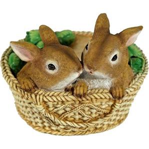 Home affaire Tierfigur Zwei Hasen im Korb