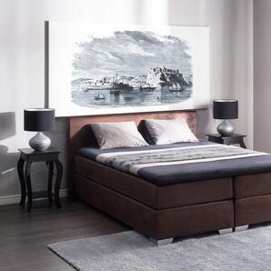 Boxspringbett Kunstleder braun 160 x 200 cm PRESIDENT