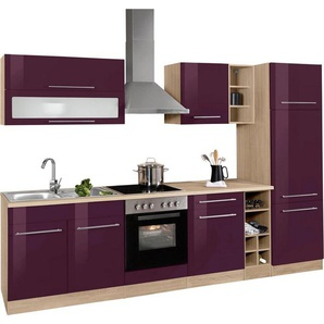 HELD MÖBEL Küchenzeile ohne E-Geräte »Eton«, Breite 300 cm, lila