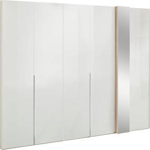 set one by Musterring Drehtürenschrank »fontana« in Weißglas mit Dekorfront und Spiegel, in 3 Breiten