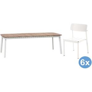 Emu Shine Teak Gartenset 292x100 Tisch + 6 Stühle