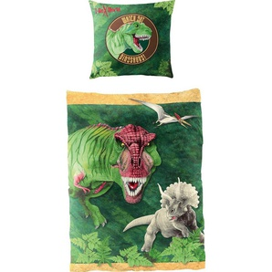Kinderbettwäsche »Dinosaurier«, Lizenzbettwäsche T-Rex