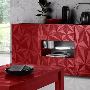 Lc Sideboard »Prisma«, rot, pflegeleichte Oberfläche, mit Schubkästen, FSC®-zertifiziert