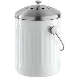 Komposter inklusive Filter, weiß, H/Ø ca. 28/18,5cm, heine home