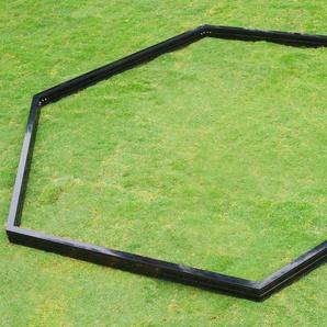 OUTFLEXX Fundament für Gewächshaus 13762, schwarz, pulverbeschichtet, 320 x 283 x 9 cm