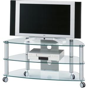 Jahnke TV-Rack »CU-SR 1060«, transparent, pflegeleichte Oberfläche
