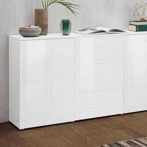 Borchardt Möbel Sideboard »Savannah«, weiß, pflegeleichte Oberfläche, mit Schubkästen