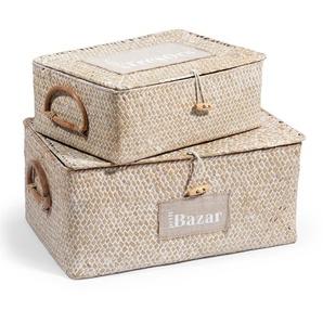2 Kisten aus Pflanzenfaser, H9/H14
