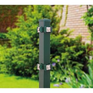 Eckpfosten für Stab- u. Doppelstabmatte grün (RAL 6005) / 125 cm - HOLIDAYGARDEN