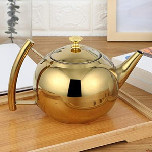 Teekessel Teekanne mit Filterkaffeekanne Induktionsherd 304 Edelstahl