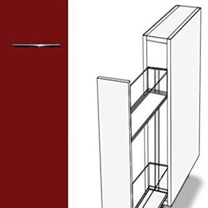 Premium-Ambiente ASEPA058 Unterschrank Apothekerschrank Vollauszug Softclosing 20cm breit FE (58 Burgund)