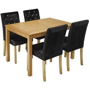 Essgruppe Oakridge mit 4 Stühlen