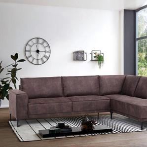 Places Of Style Eck-Sofa »Oland«, braun, hoher Sitzkomfort, FSC®-zertifiziert