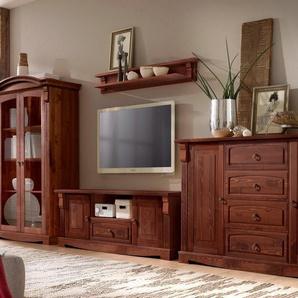 Home Affaire Wohnwand »Anna«, braun, pflegeleichte Oberfläche