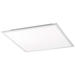 LED-Deckenleuchte Deckenlampe Wohnzimmerlampe FLAT 2   Metall   Kunststoff   Weiß   30x30 cm