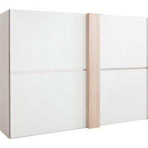 Schwebetürenschrank mit Dekorfront, weiß, Breite 300 cm, »fontana«, FSC®-zertifiziert, set one by Musterring