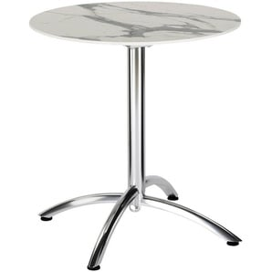 : Tisch, Creme, Grau, Silber, H 73