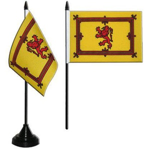 Flaggenfritze® Tischflagge Schottland Royal 10x15 cm