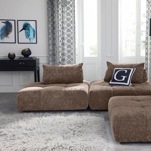 Guido Maria Kretschmer Home&living Ecksofa »Eidum«, braun, B/H/T: 255x40x78cm, hoher Sitzkomfort, FSC®-zertifiziert
