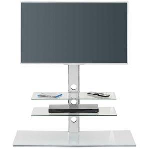Fernseher Ständer aus Sicherheitsglas und Stahl 100 cm breit